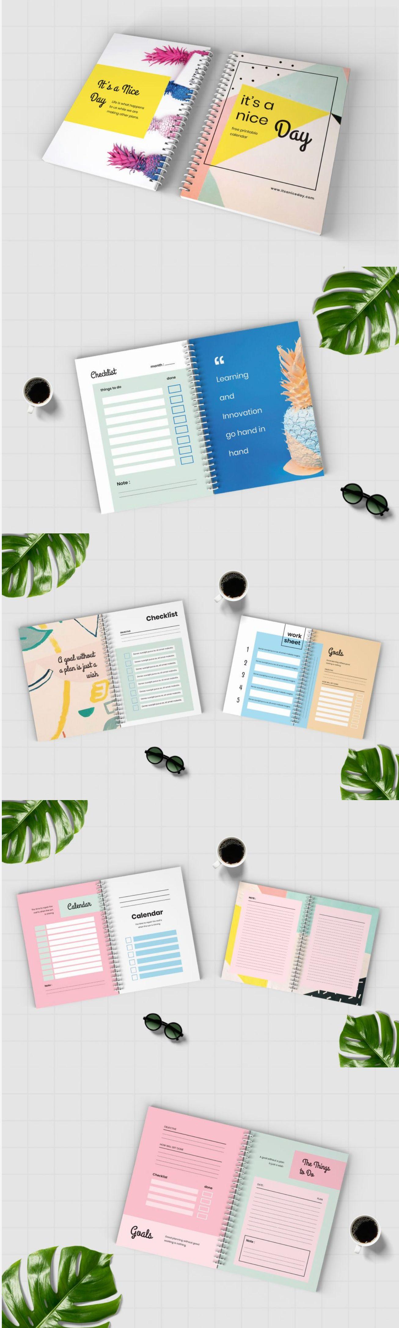 Worksheet Daily Planner Book