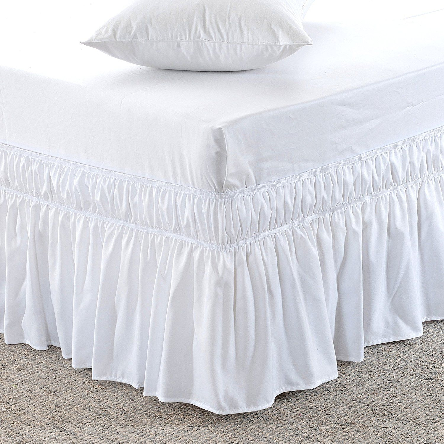 The Perfect Farmhouse Bed In 6 Simple Steps The Weathered Fox Solid Bed Bedskirt Wrap Around Bed Skirt