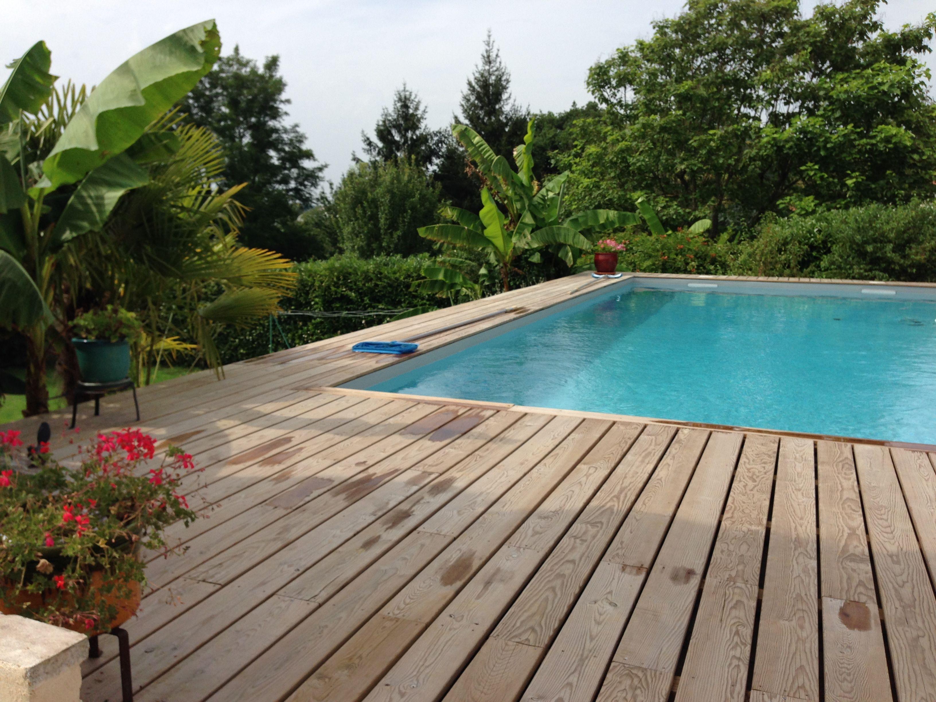 piscine restaur 233 e liner gris clair terrasse en pin des