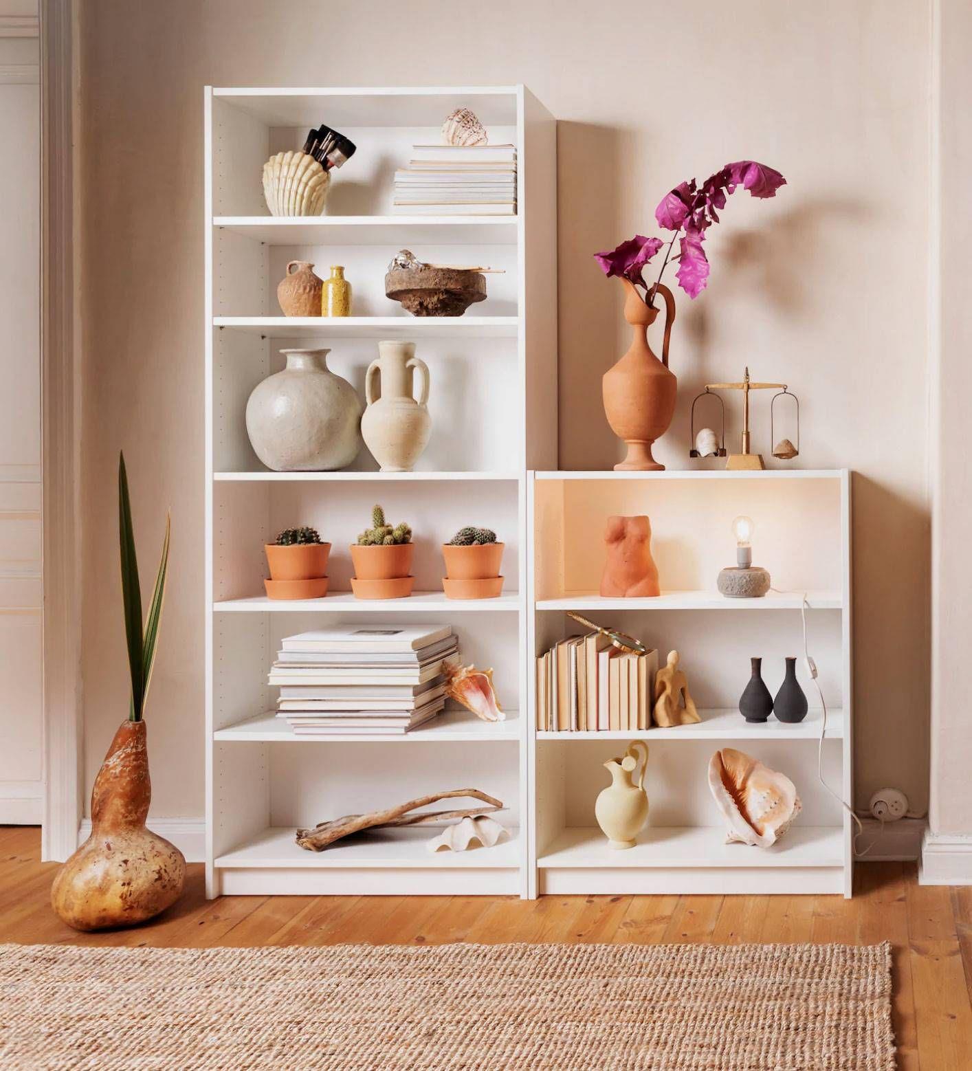 Puedes Combinar Dos Librerías De Distinta Altura Decorar Estantería Estantería Billy Ikea Billy Ikea
