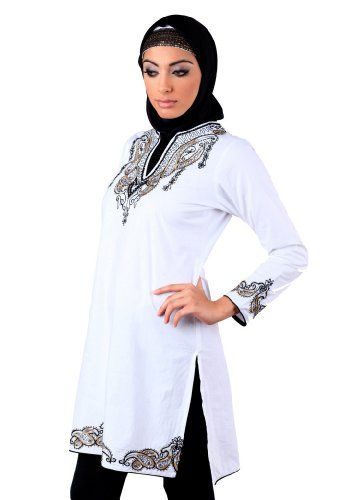 908fee39e48 Jenna Kurti White XL >>> Be sure to check out this awesome product ...