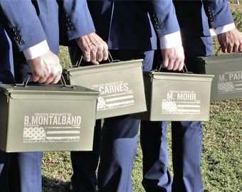 Groomsmen Gift Box Personalized Ammo Can 50 Cal Father Of