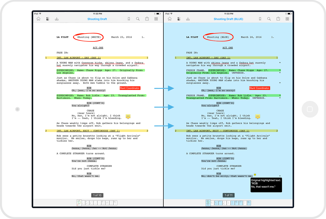 Scriptation Is The 1 Pdf Annotation App For Film And Tv Professionals More Than Scripts It Handles All Documents So Your Next Revis Annotation Script On Set