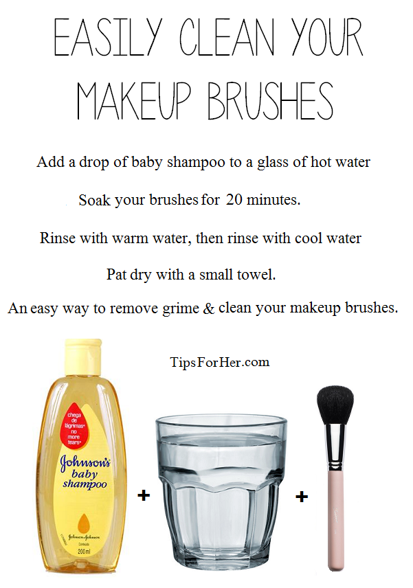 Clean Makeup Brushes An inexpensive, easy way to remove