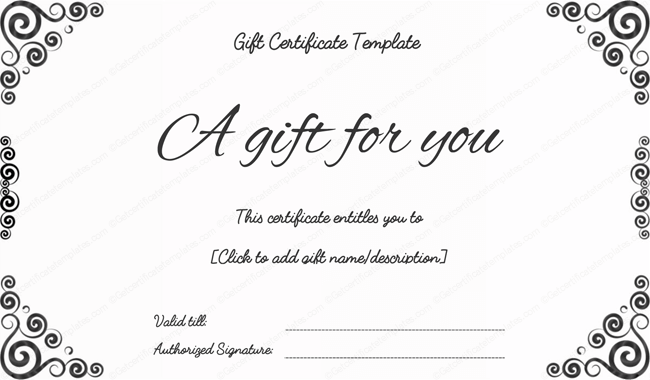 Black Art Gift Certificate Template Photography – Gift Coupon Template
