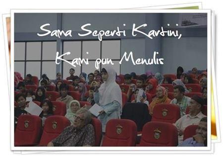 Sama Seperti Kartini, Kami pun Menulis | Mugniar's Note  Kartini, oleh kebanyakan orang dijadikan ikon pejuang emansipasi yang membuat perempuan bisa berkiprah di sektor publik. Hal yang dilupakan banyak orang adalah bahwa Kartini membaca dan menulis. Bahkan dia membaca banyak sekali buku dan menulis banyak sekali surat (sekira 800 halaman). *Tulisan ke-4 dari sebuah seminar internasional*  http://www.mugniar.com/2016/05/sama-seperti-kartini-kami-pun-menulis.html