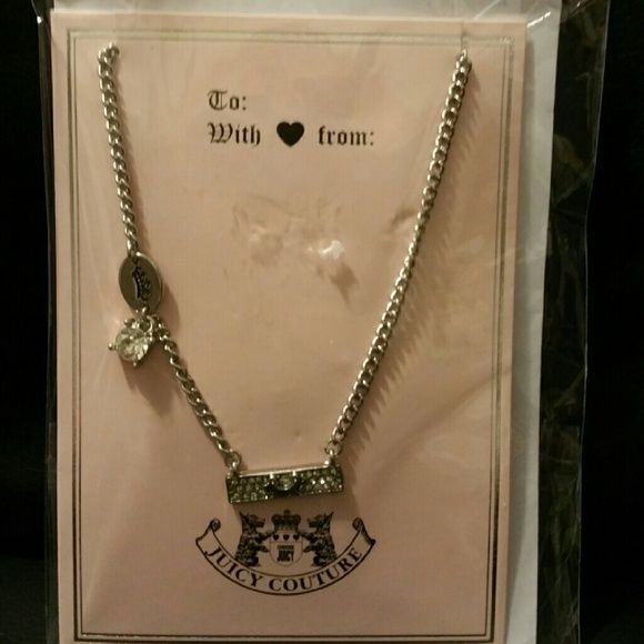 Juicy Couture new necklace on card sealed Nw retails 25 comes on a awesome Juicy gift card ... Juicy Couture Jewelry Necklaces