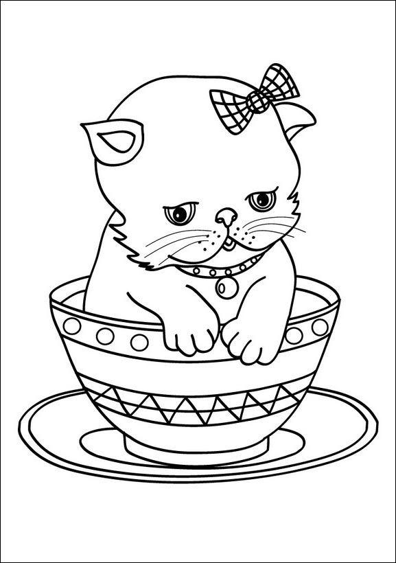 ausmalbilder katzen 08  kitten coloring book cat