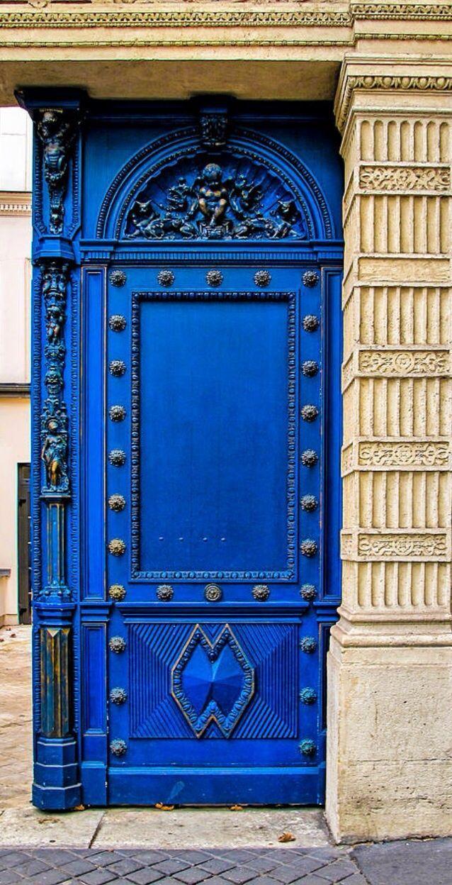 Paris, France...by J Pruett                                                                                                                                                      More   Blue door