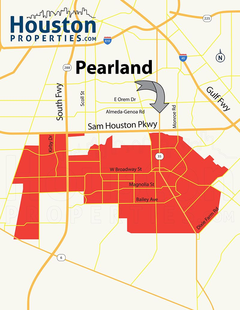 Pearland Houston TX Map  Great Maps Of Houston  Pinterest