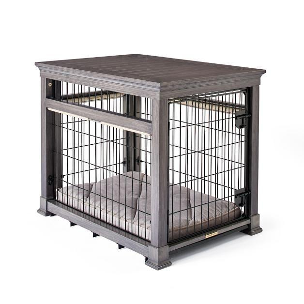 Weathered Grey Dog KennelDesk