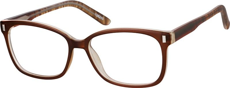 97ea63c5663 Zenni Square Prescription Eyeglasses Brown Tortoiseshell Other ...