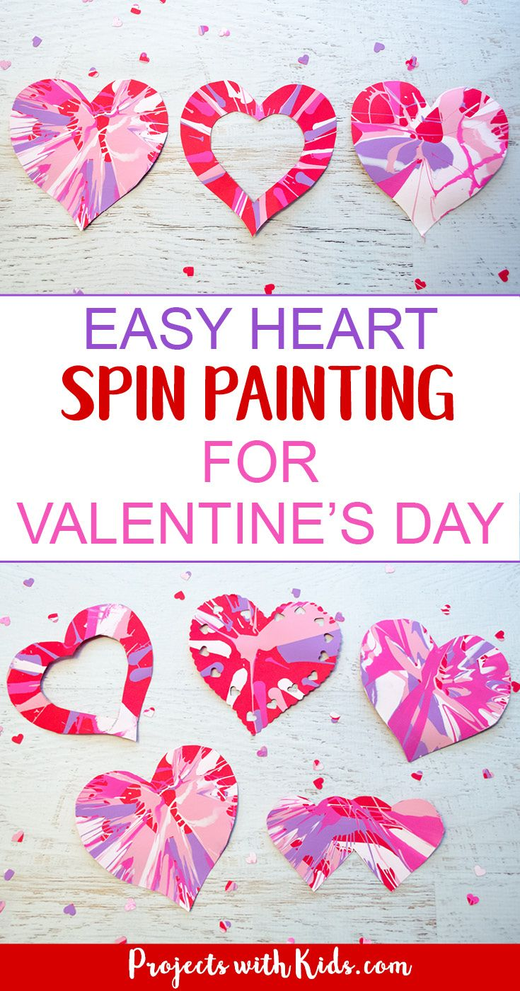 Easy Heart Spin Painting For Valentine S Day Be My Valentine