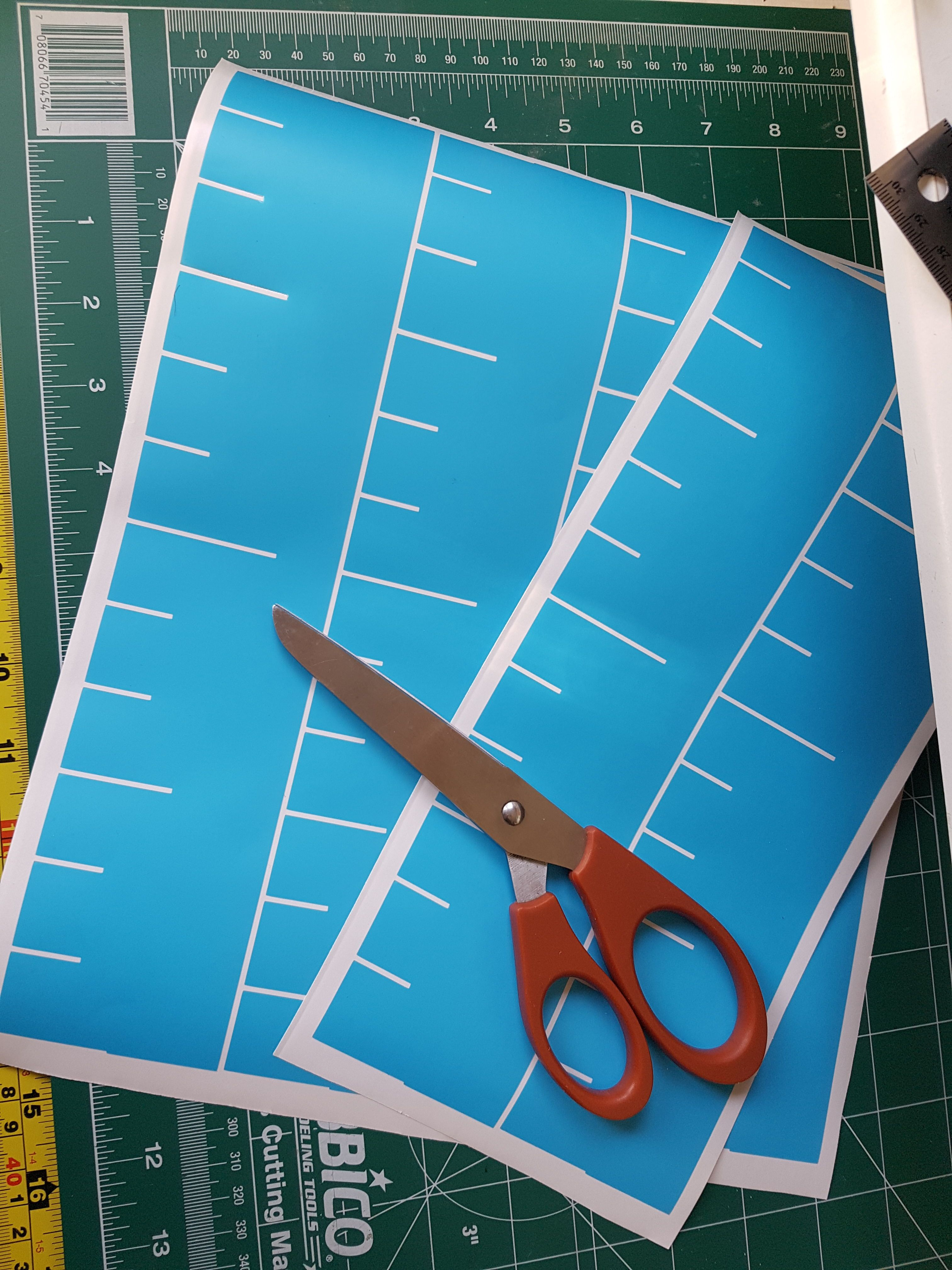 DIY Over Sized Ruler Growth Chart Growth chart ruler