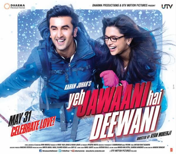 Yeh Jawaani Hai Deewani Poster Feat Deepika Padukone And Ranbir Kapoor Bollywood Movies Bollywood Movie Bollywood