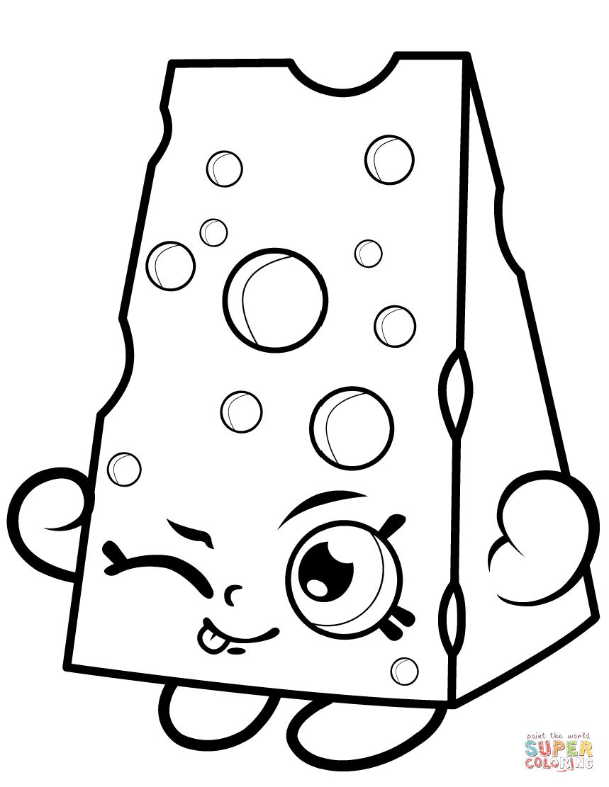 Chee Zee Shopkin Coloring Page