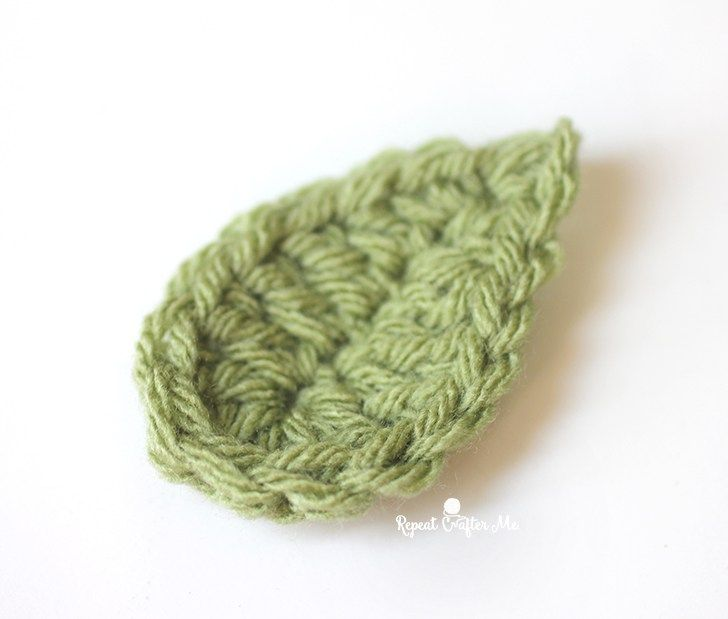Happy Earth Day! Let\'s celebrate with a quick and easy crochet leaf ...