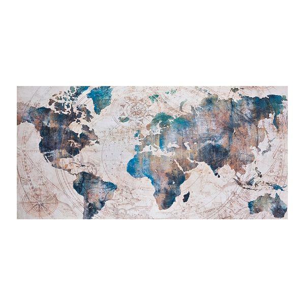 Large Celestial World Map Canvas Art Print | Kirklands ... on world maps history, world maps religion, old world map sale, world maps france, world maps software, world map globe sale, world maps games, world maps art, world maps furniture, world maps books,