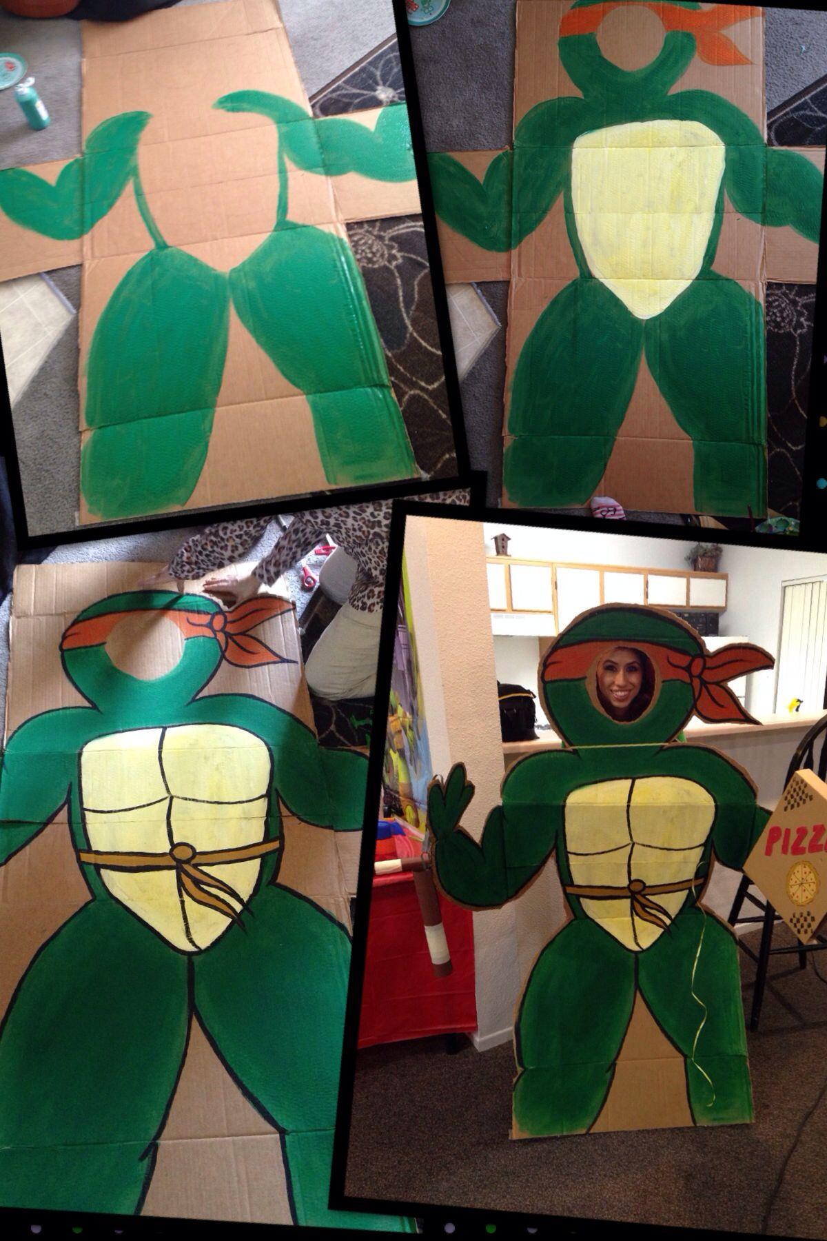 DIY cardboard cut out. Tmnt. Ninja turtles party.   Party ...