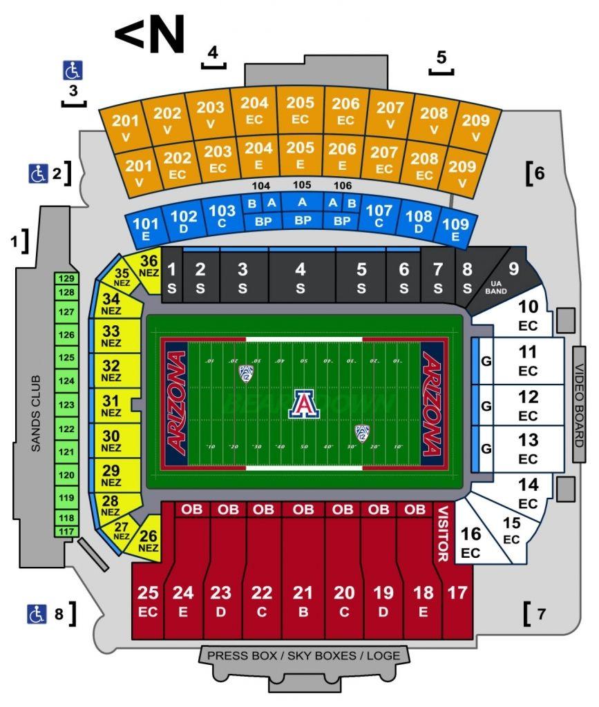 University Of Arizona Football Stadium Seating Chart