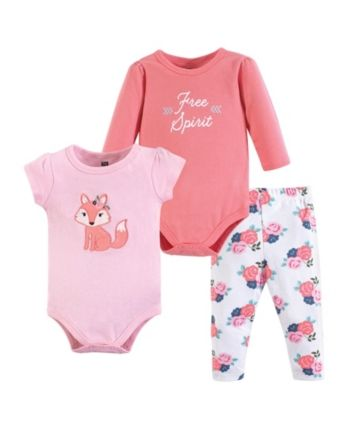Unisex Baby Newborn Flower Print Outfit Clothes 0-24 Months