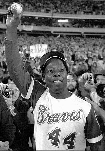 Google Image Result For Http Www Glogster Com Media 5 27 96 72 27967259 Jpg Atlanta Braves Baseball Atlanta Braves Hank Aaron