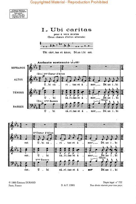 Durufle Ubi Caritas Books Music And Movies Pinterest Choir