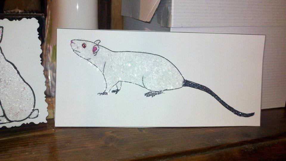 glitter rat
