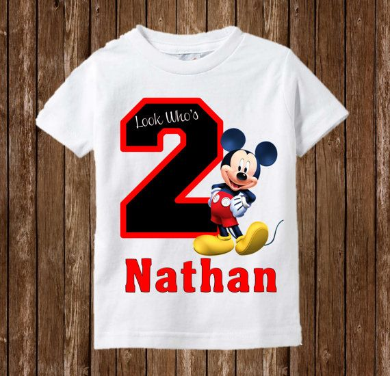 Mickey Mouse Birthday Shirt Mickey Mouse by PreciousCreations7