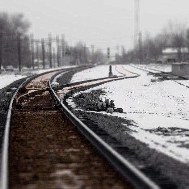 #train #tracks #snow #winter #tilt #tiltshift #lines #perspective #sky #sepia #blackandwhite #instamood #picoftheday #iphonephotography #pictureoftheday #photooftheday #primeshots #instagramer #clubsocial #instacanvas #skyporn #cloudporn #skyart #weather #Padgram