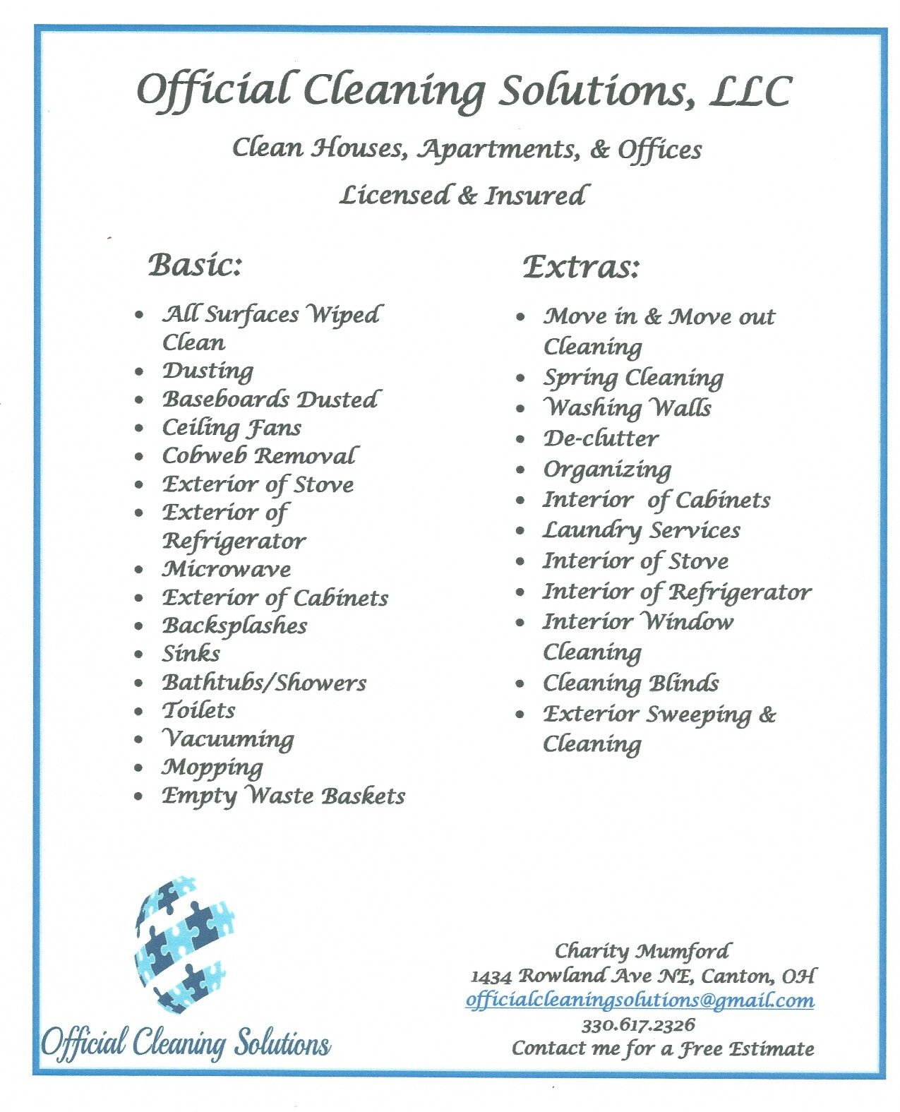 Cleaning Services  Cleaning Flyer    Cleaning Service