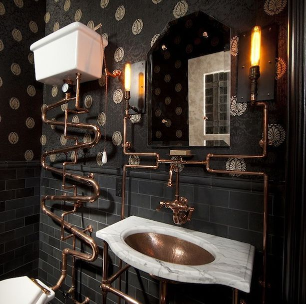 Steampunk Interior Design Ideas steampunk and the new victorians lighting steampunk cafesteampunk interiorsteampunk designvictorian Steampunk Interior Design Ideas From Cool To Crazy Copper Industrial And Style
