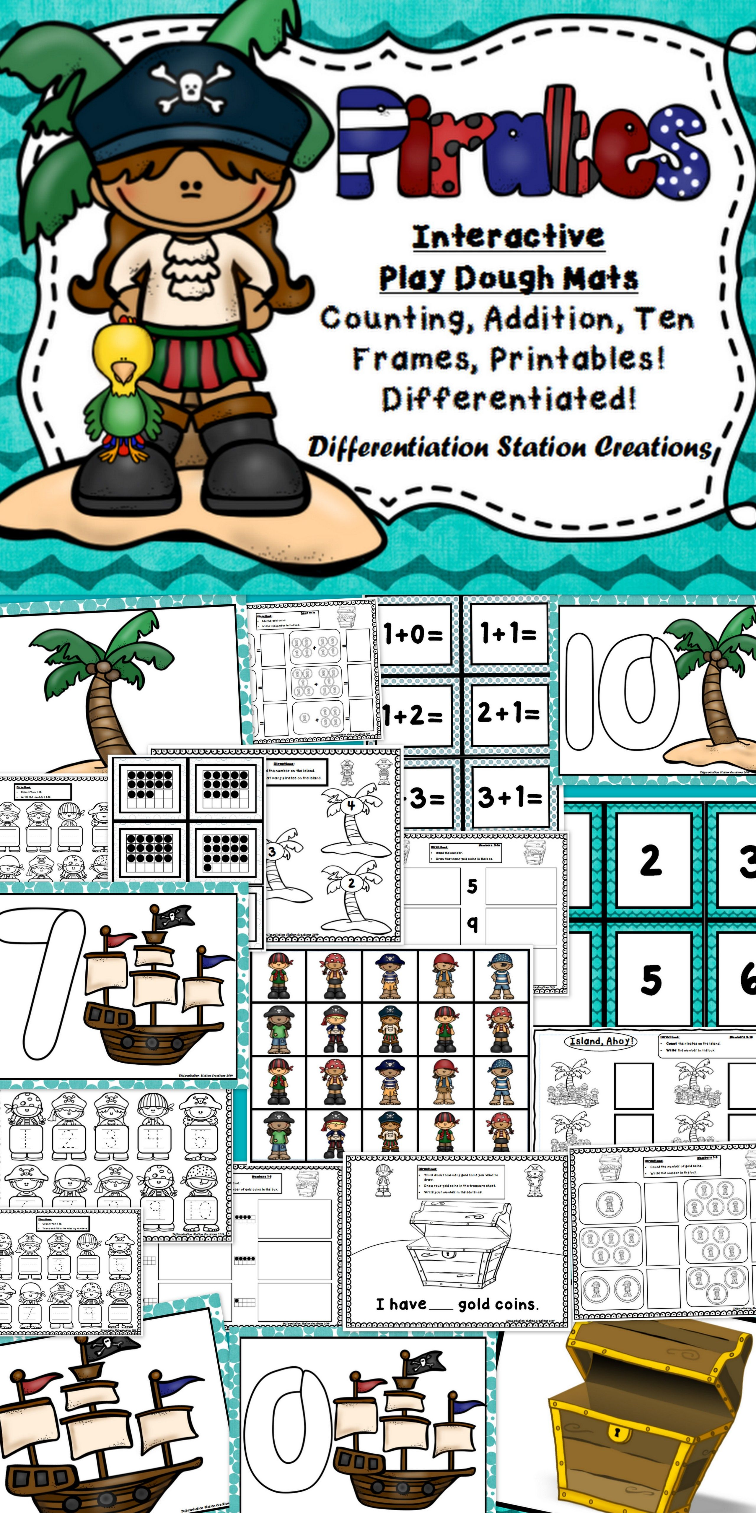 Pirates Interactive Play Dough Mats Counting Addition Ten Frames Centers Games And Printables Preschool Pirate Classroom Pirate Activities Pirate Day [ 5120 x 2560 Pixel ]