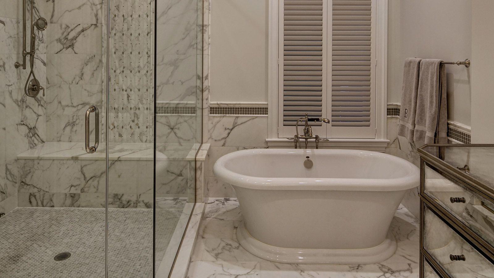 Chicago Brownstone Master Bath Remodel Drury
