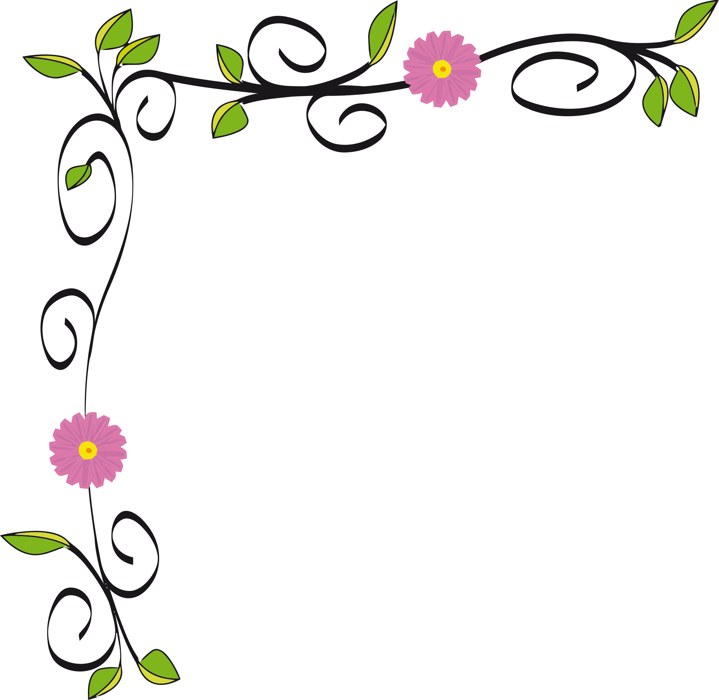 floral border vectorized by gdj