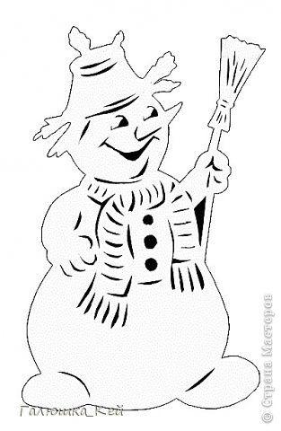 Новый год Вырезание Дед Мороз Снегурочка и весельчак ...