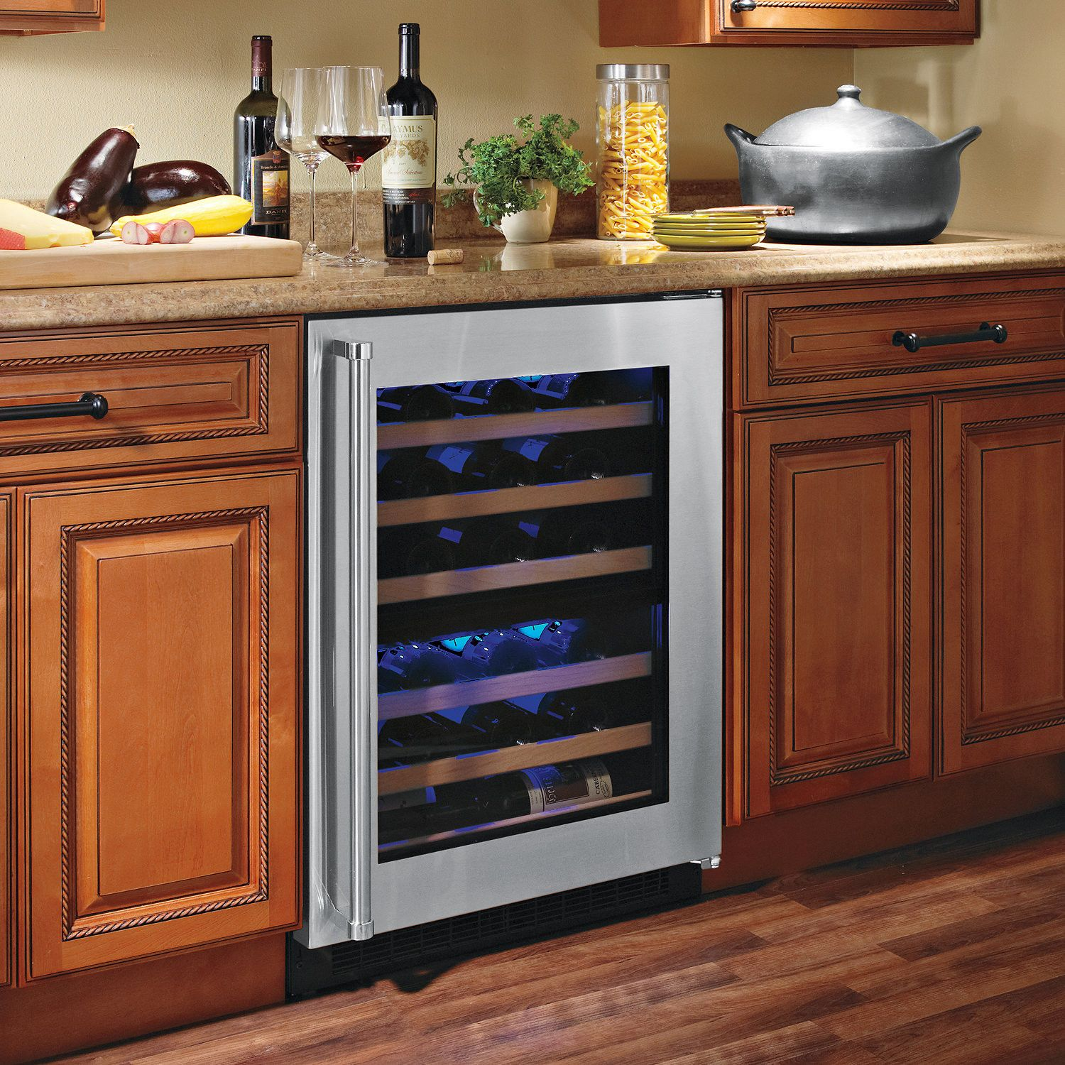 countertops appliances uline floor wooden countertop kitchen cooler ideas your undercounter cool marble for and white frigidaire wine marvel with refrigerator fridge