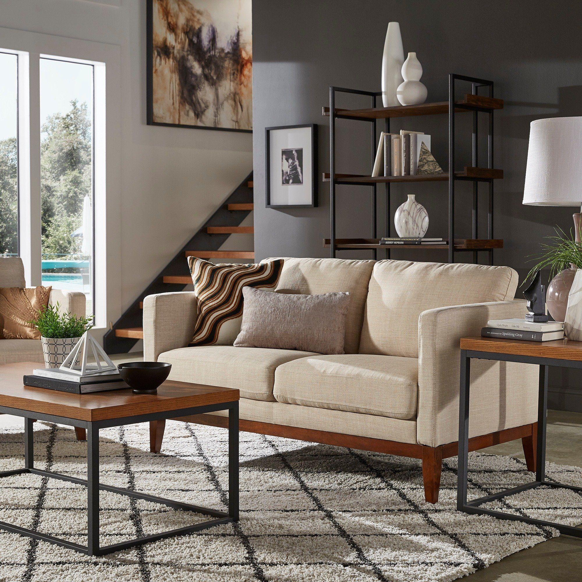 vail linen upholstered sofa and loveseat by inspire q modern in 2019 rh pinterest com