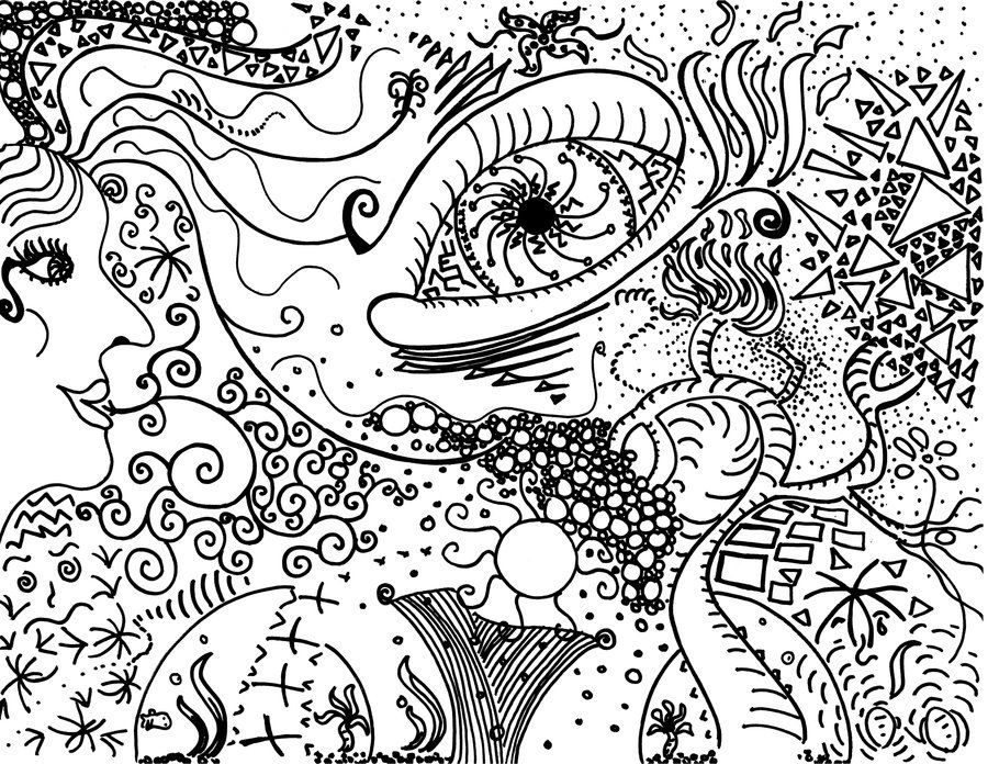 Pics For Easy Trippy Designs To Draw Drawing Trippy