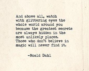 Inspiration: Roald Dahl