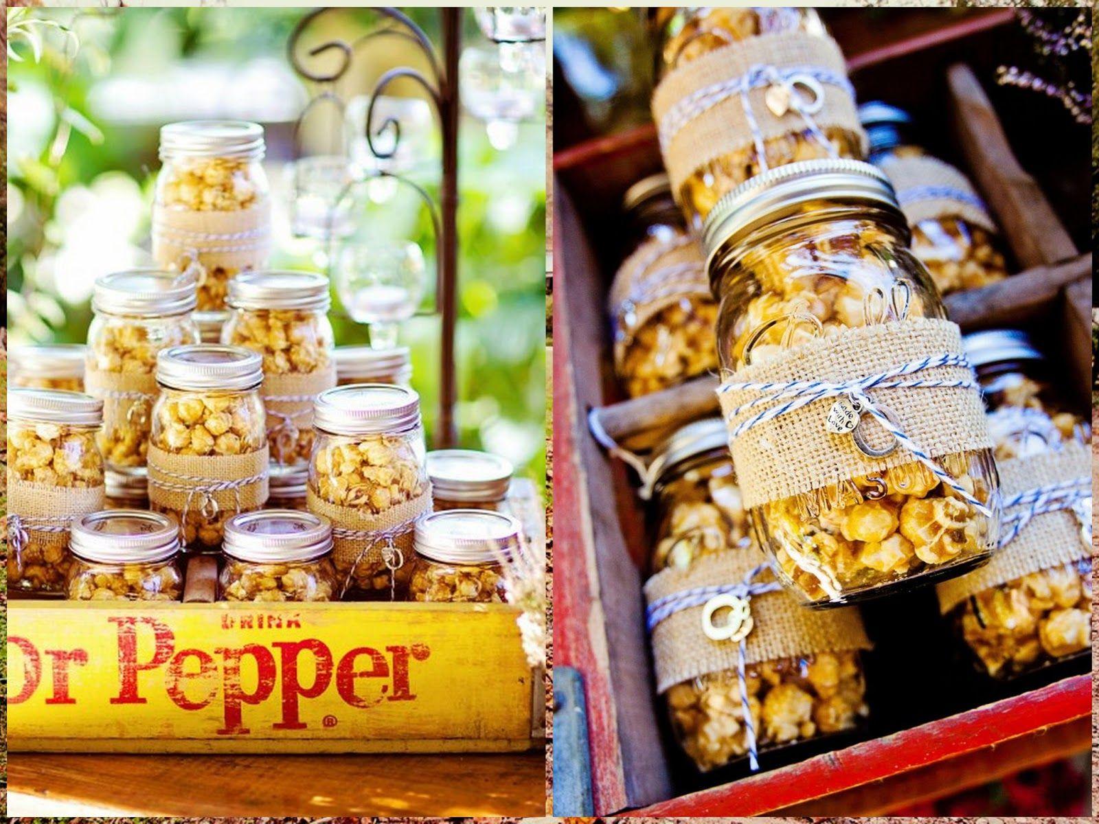easy diy rustic wedding favors%0A Katie Rivers excels in Photography of Liz  u     Ryan O u    Connor u    s Rustic Day   Popcorn Wedding FavorsPopcorn