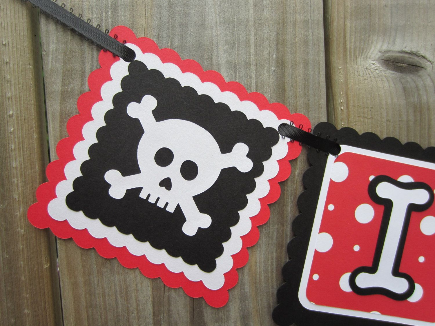 I am 1, pirate theme high chair banner, skull, first