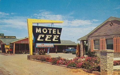 New Mexico Usa Hotel Motel Neon Signs News Vintage Postcards Signage Arrows Nostalgia Pools
