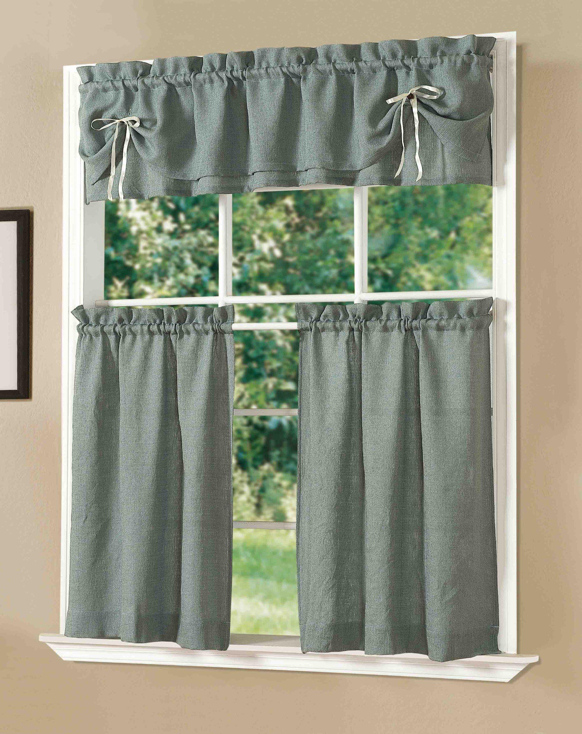 amazon com dainty home lucia kitchen curtain set taupe window rh pinterest nz