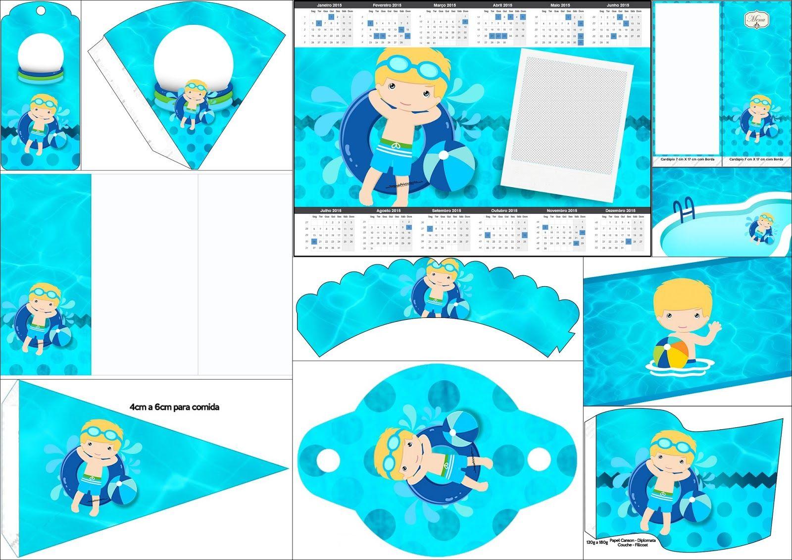 Fiesta en la piscina para ni o rubio imprimibles gratis for Ideas para cumpleanos en piscina