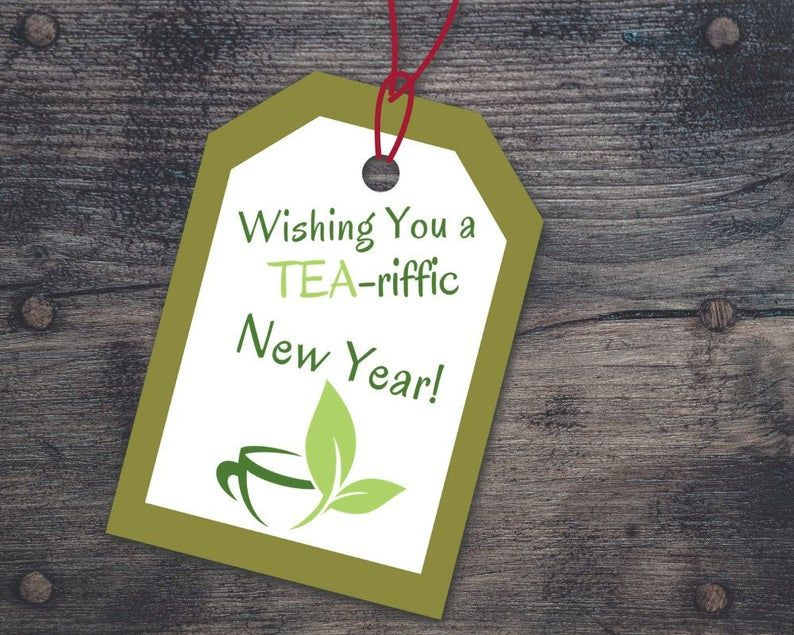 NEW YEAR Tea Gift Tags Printable Gift Healthy New Year