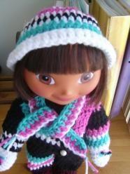 f3ad007db0b9 Snowsuit Ensemble extras - 15 inch Dora doll accessories patterns ...