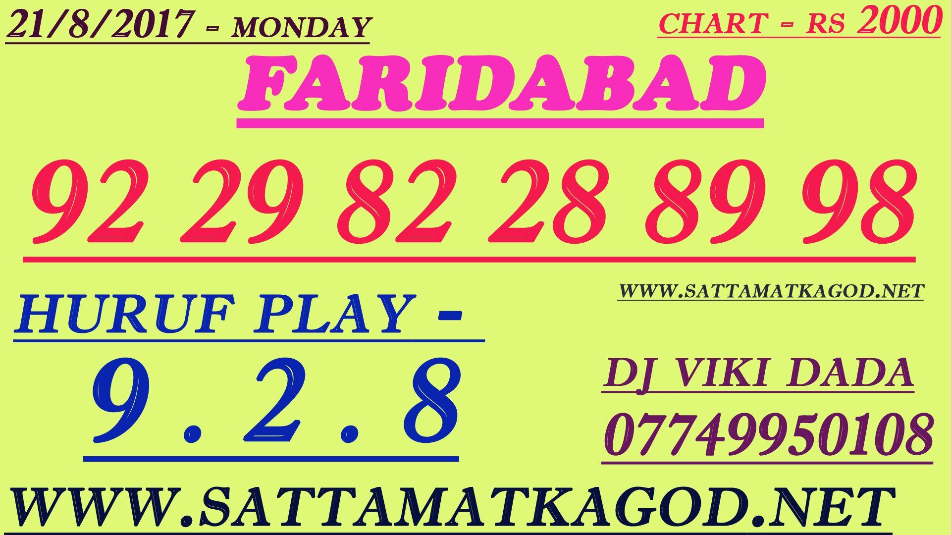 FARIDABAD SATTA KING   sattamatkagod net   Lottery games