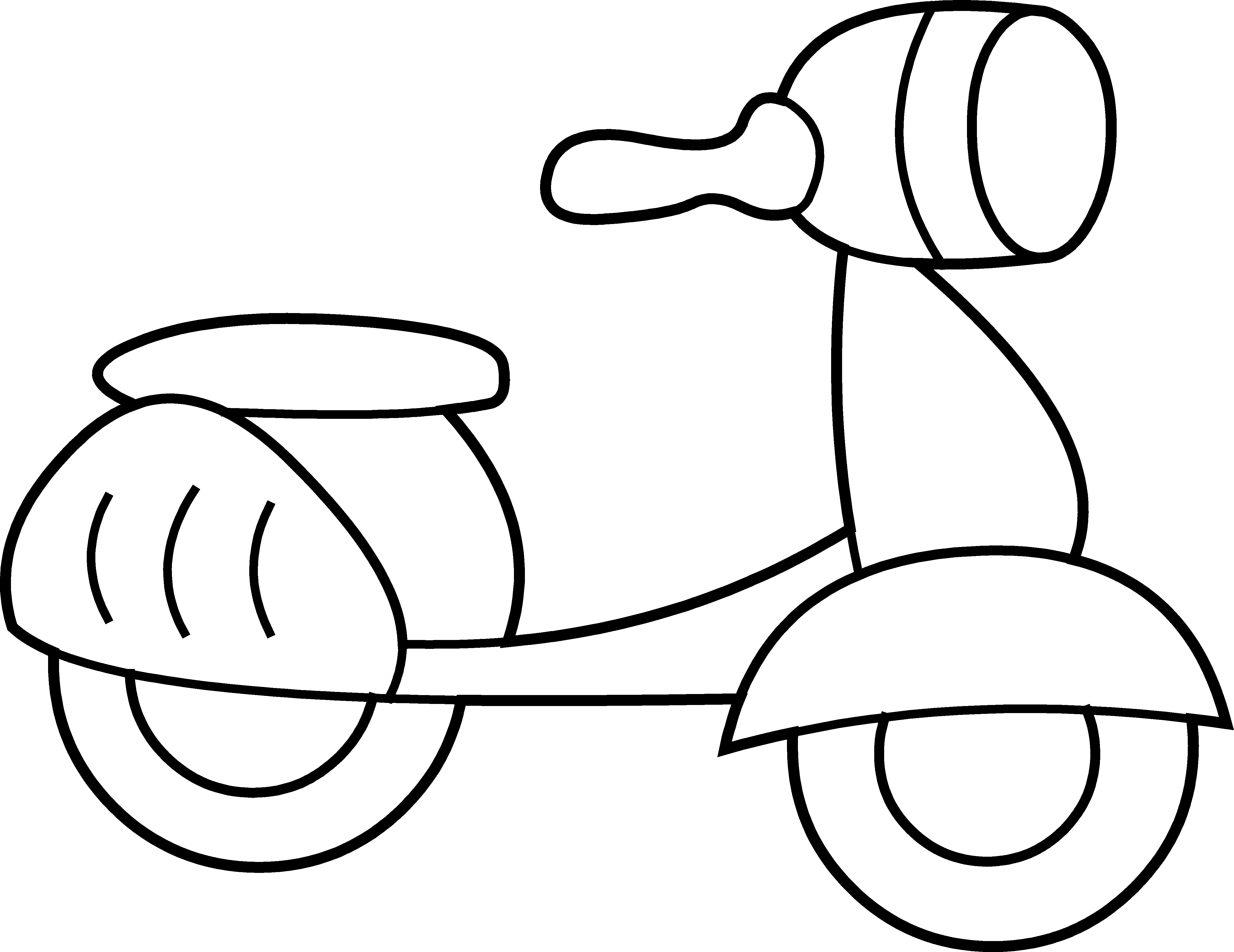 Scooter Clipart By Hallow Graphics Cars Coloring Pages Cute Toys Coloring Pages