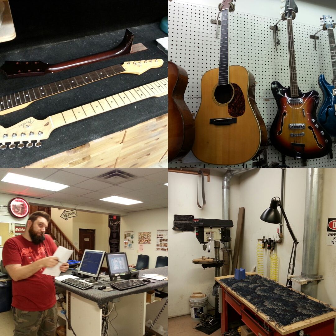 Before We Sell A New Instrument All New Fretted Instruments Including Acoustic Electric And Resonator Guitars Banjos Resonator Guitar Repair Repair Shop